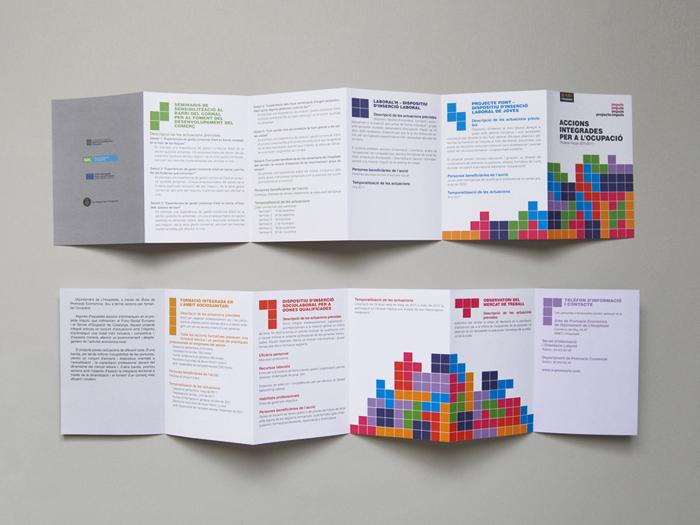 Comunicació, Identitat, Cartell, Fulletó, Print, Graphic Design, la Negreta, Fons de Cohesió, Europa, Ocupació