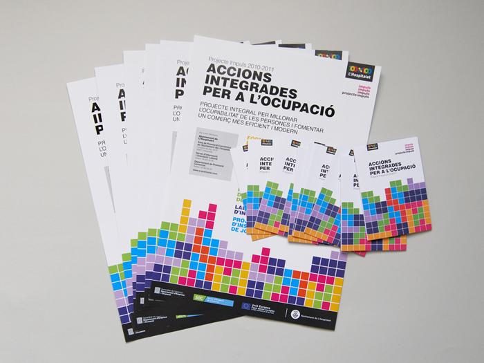 Comunicació, Identitat, Cartell, Poster, Fulletó, Print, Graphic Design, la Negreta, Fons de Cohesió, Europa, Ocupació