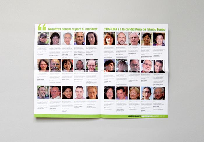 ICV, Iniciativa, Política, campanya, Comunicació, Arnau Funes, Cornellà, Verds, Eleccions Municipals, Municipals, Disseny Gràfic