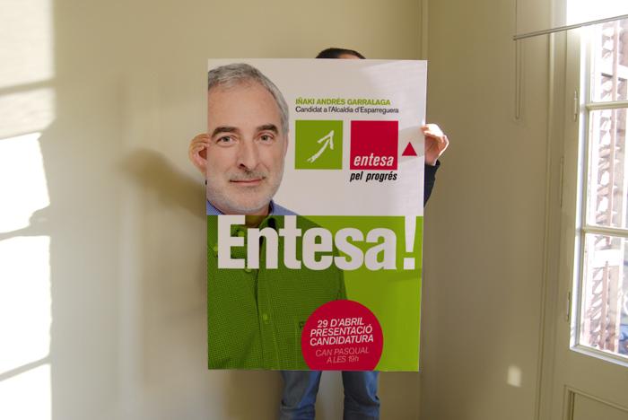 ICV, Iniciativa, Política, campanya, Comunicació, Iñaki Andrés Garralaga, Esparreguera, Verds, Eleccions Municipals, Municipals, Disseny Gràfic