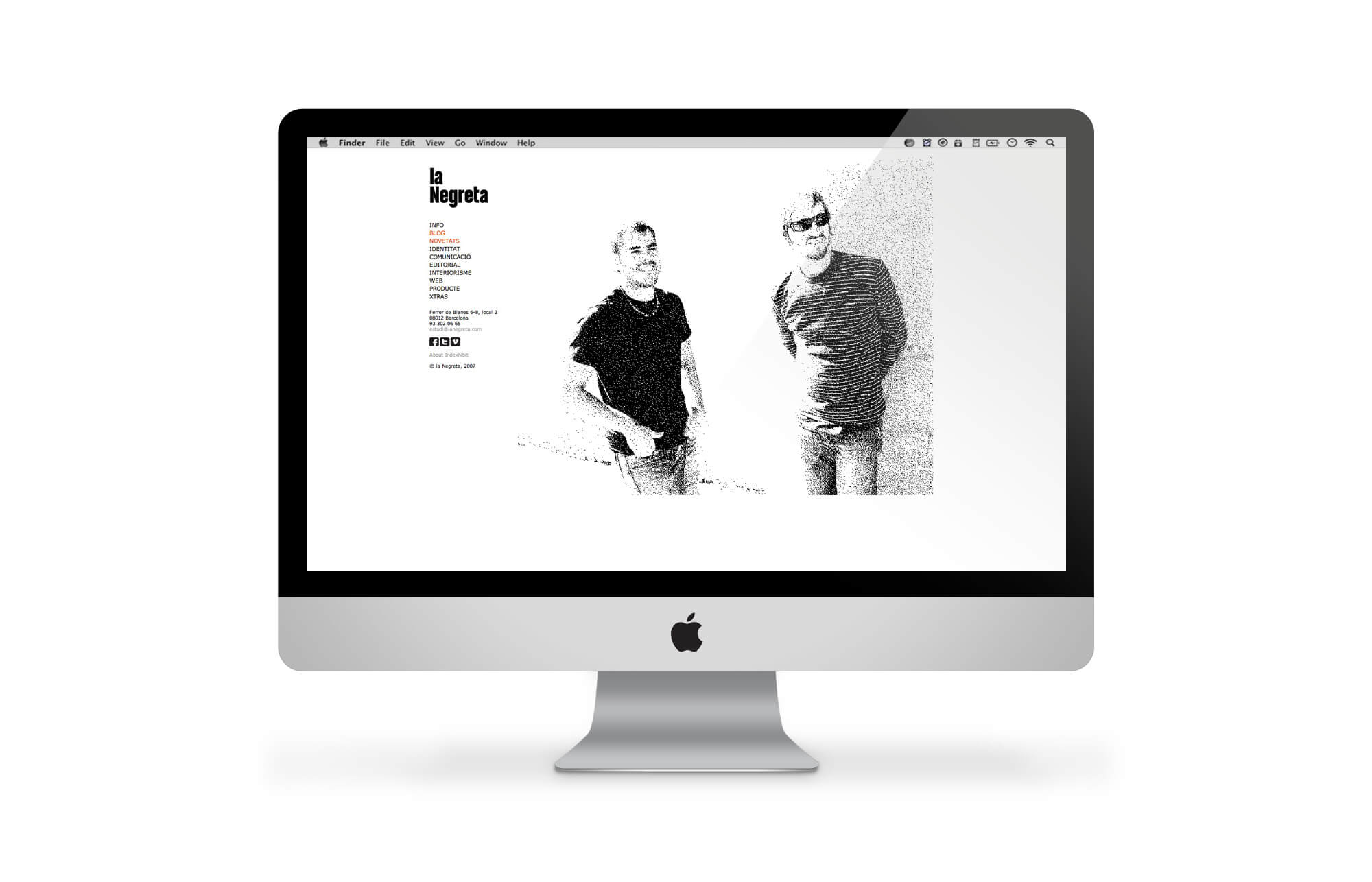 la Negreta, Website, Barcelona, Graphic Design, Web, Design Web, Disseny Web