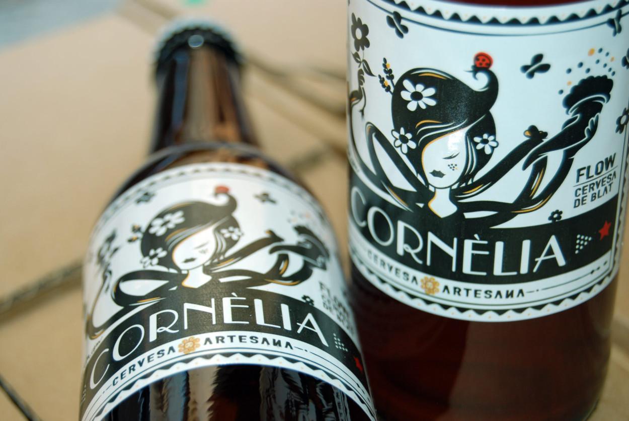 la Negreta, Etiqueta, Il·lustració, Cornèlia, Cervesa Cornèlia, Cervesa, Cornellà