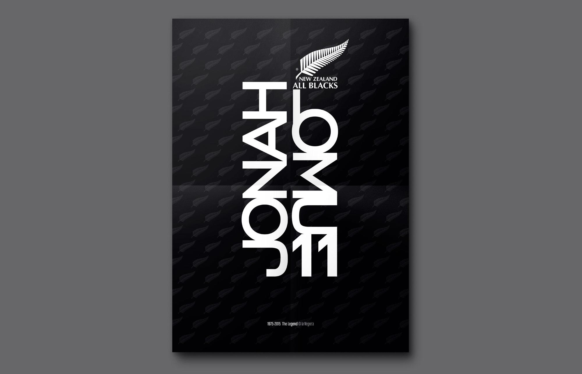 la negreta, jonah lomu, barcelona, disseny gràfic, all blacks