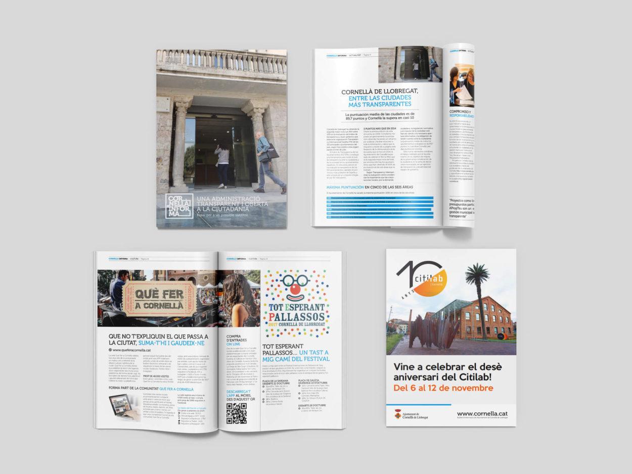 Cornellà Informa, Revista, Magazine, la Negreta, Editorial, Disseny Gràfic, Disseny Editorial