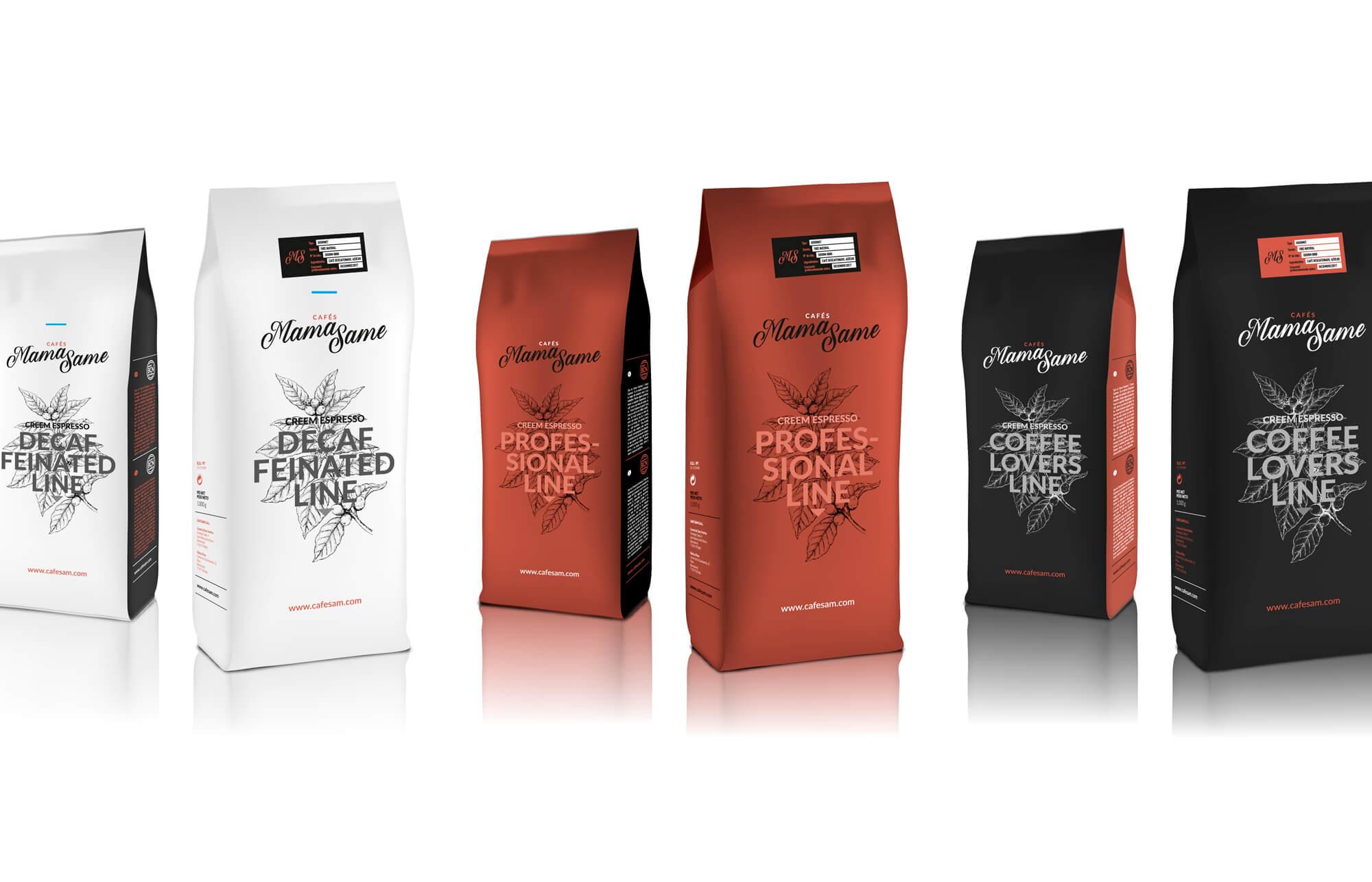 la Negreta, Cafés MamaSame, Café, Barcelona, Diseño Gráfico, Packaging