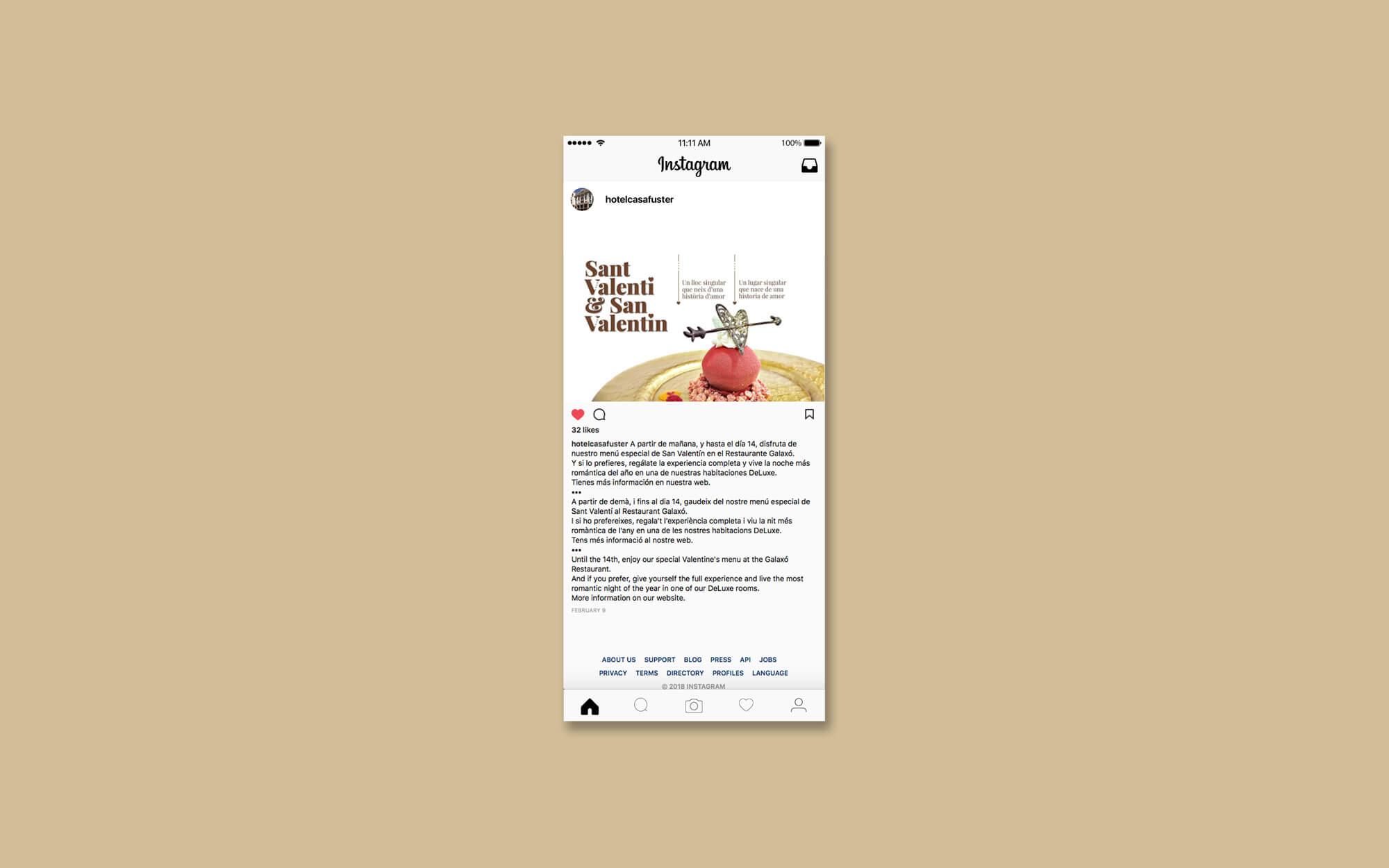 Hotel Casa Fuster, Hotel, Barcelona, Sant Valentí, Newsletter, la Negreta, Disseny Gràfic, Barri de Gràcia, Digital, Comunicació, Mailchimp, Instagram