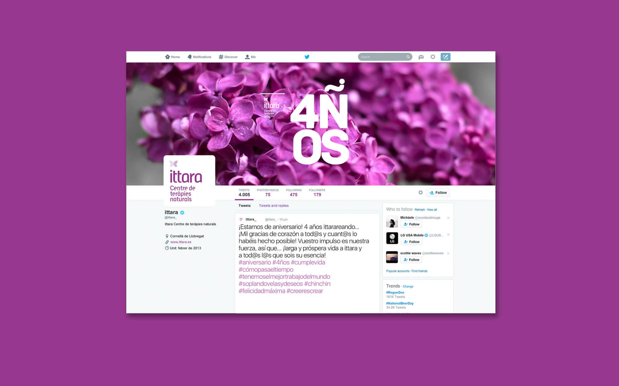 la Negreta, teràpies, teràpies naturals, Barcelona, Disseny gràfic, Xarxes Socials, Cornellà, Digital, Comunicació