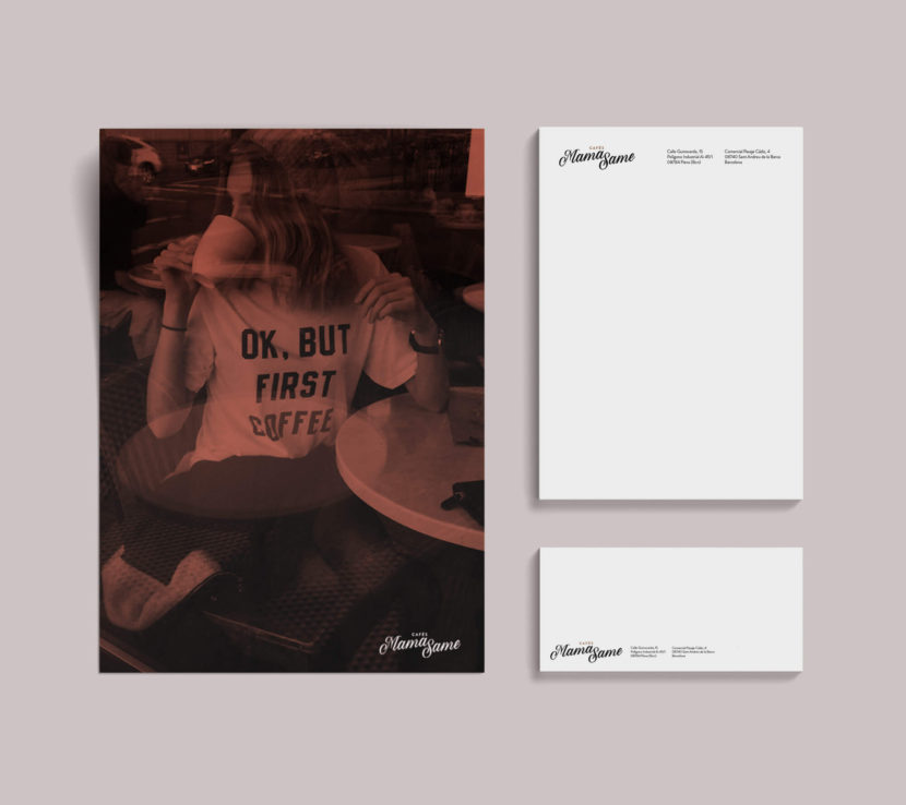 Cafés, Barcelona, la Negreta, Disseny Gràfic, Papereria, Imatge Corporativa