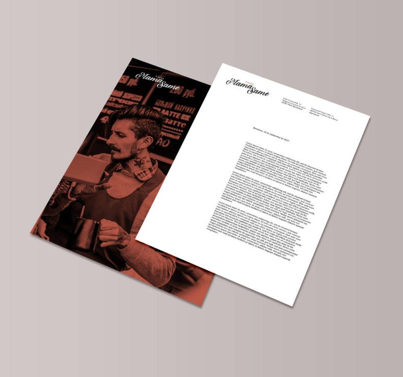 Cafés, Barcelona, la Negreta, Disseny Gràfic, Papereria, Imatge Corporativa, Carta