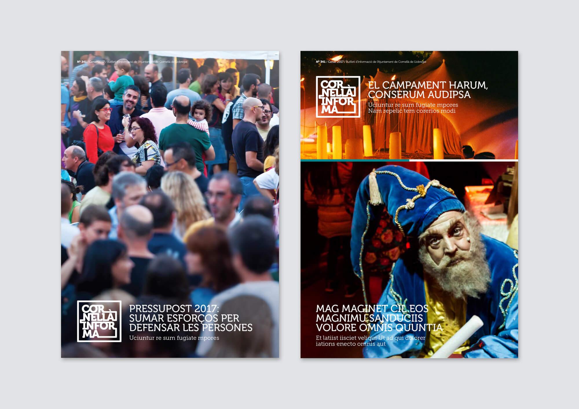 Cornellà Informa, Revista, Magazine, la Negreta, Logotip, Branding, Marca, Manual Identitat