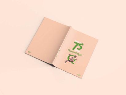 Quimidroga, Diseño Editorial, Editorial, la Negreta, Dirección de arte, Art Direction, Barcelona, Química, Geltex, 75 años