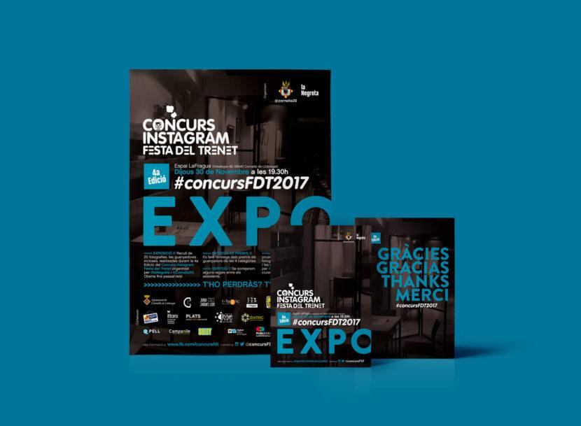 Exposició, Expo, la Negreta, ConcursFDT, ConcursFDT2017, Festa del Trenet, Disseny Gràfic, Cornellà, Barcelona, Cartell, Pòster, Flyer, Instagram, Igers, Can Mercader, LaFragua